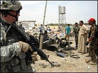Iraq bomb blast site