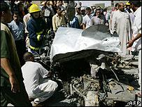 Scene of bombing in Kufa