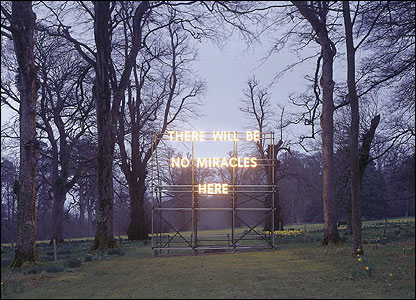 There Will Be No Miracles Here, 2006 � Nathan Coley Courtesy doggerfisher and Haunch of Venison