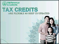 Notice to tax credit claimants on HMRC website