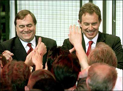 John Prescott and Tony Blair in 1997
