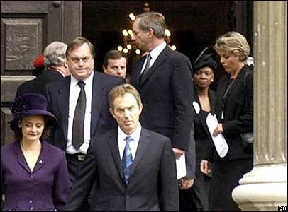 John Prescott and (back right) Tracey Temple