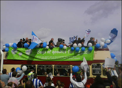 The Pool bus arrives in town