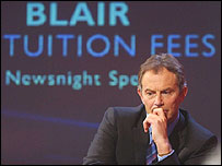 Blair tuition fees
