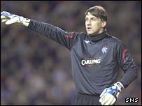 Rangers goalkeeper Stefan Klos