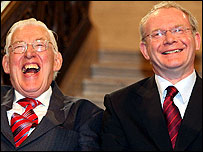 Ian Paisley (l) and Martin McGuinness (r)