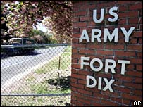 An entrance gate at Fort Dix, New Jersey