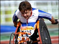 Tanni Grey-Thompson in action