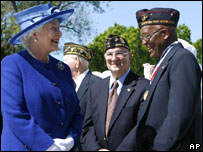 The Queen with war veterans