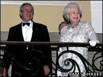 The Queen and President George W Bush