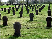 German war graves outside Narva