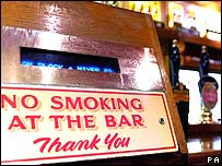 Sign on bar