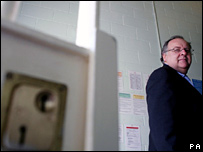 Lord Falconer at Highdown Prison