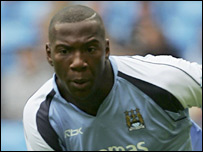 Man City forward Ishmael Miller