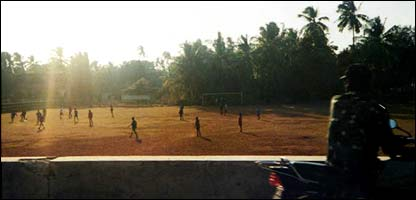 Photo: Jo Gunston. Kids play football in Goa, India.