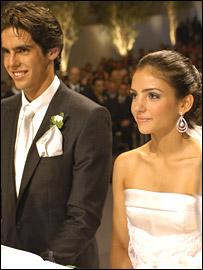 Kaka with wife Caroline Celico