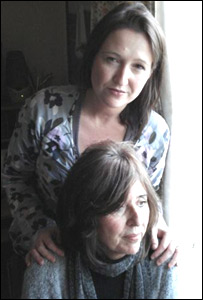 Kate Spall with mother Pam Northcott