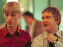 Mackenzie Crook in a scene from The Office