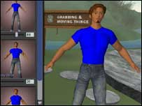 Screenshot from Second Life, BBC