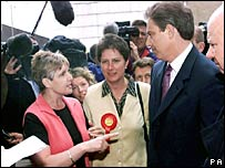 Sharron Storer confronts Tony Blair