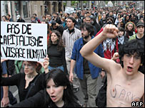 Anti-Sarkozy protests in Lyon