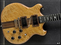 A Jerry Garcia electric guitar custom-made by Doug Irwin, 1971