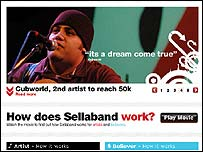 Sellaband homepage