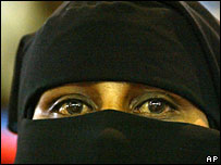 A Somali woman in a niqab