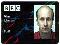 Alan Johnston's BBC id