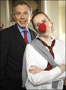 Tony Blair and Catherine Tate/ Comic Relief Ltd