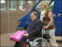 Crash victim Kelvin Palmer arrives at court to give evidence