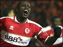 Middlesbrough midfielder George Boateng