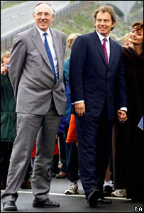 Donald Dewar and Tony Blair