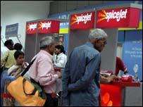 Passengers at Delhi airport