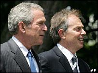 George W Bush y Tony Blair
