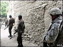 US and Afghan troops on patrol