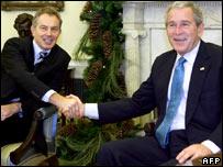 Tony Blair y George W Bush