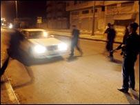 انتشار قوات الامن في غزة