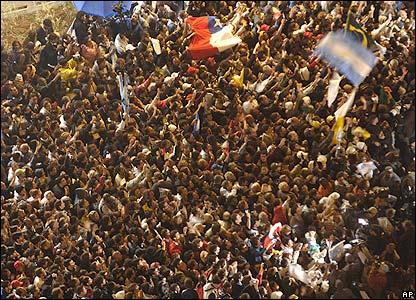 Crowds in Sao Paulo