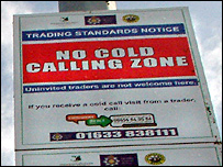 No Cold Calling sign