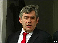 Gordon Brown, ministro de Finanzas británico.