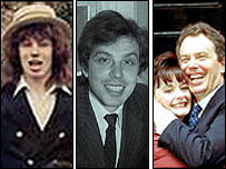 Tony Blair (and wife Cherie) through the years