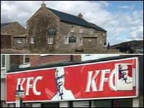 Tan Hill Inn (top) and Kentucky Fried Chicken