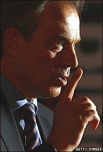 Tony Blair, primer ministro británico
