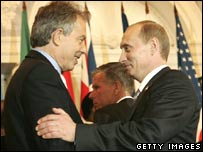 Tony Blair and Vladimir Putin in 2006