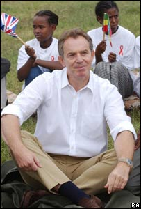 Tony Blair in Debre Zeit