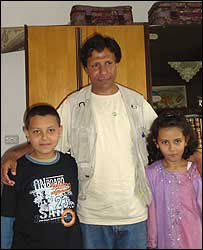 Raffaq Jalili with his children`