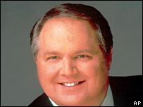Talk show host Rush Limbaugh