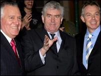 Peter Hain, Rhodri Morgan a Tony Blair