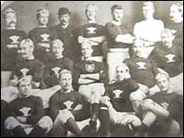 James Bevan (centre) with the first Wales rugby union team in 1881